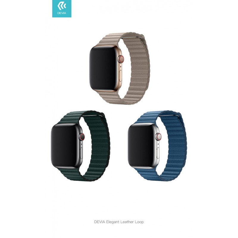 Devia Elegant Leather Loop Bőr Szíj Apple Watch Series 1/2/3/4/5 - 42/44 mm-es órához