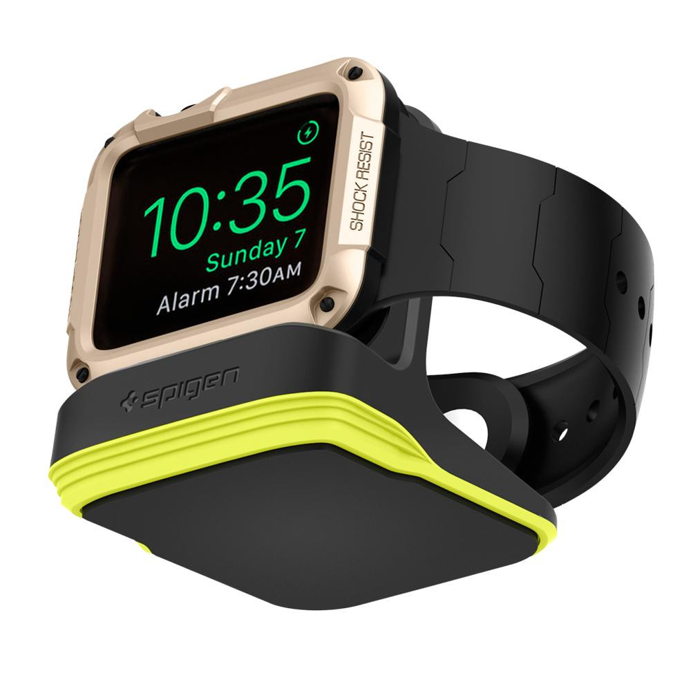 Spigen Apple Watch Night Stand S350 - Fekete-Neonzöld