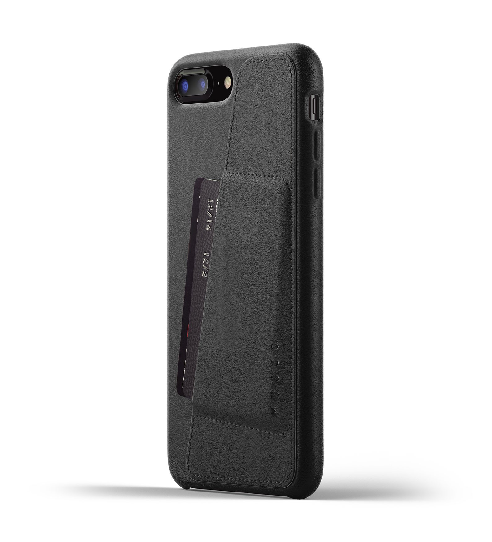 Mujjo Full Leather Wallet Case iPhone X tok
