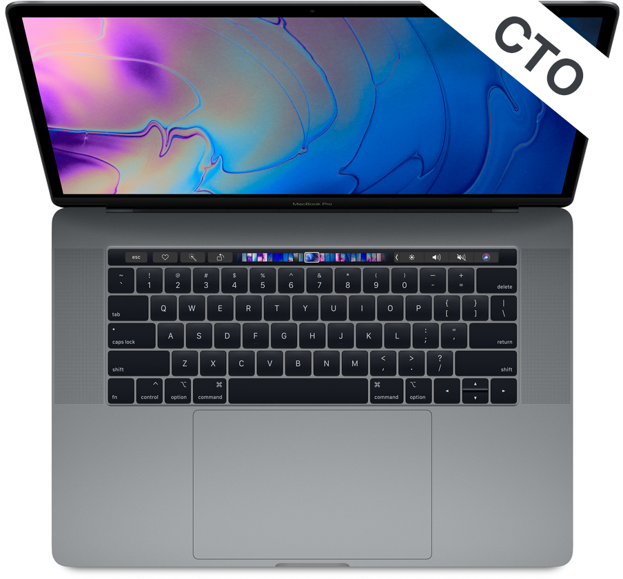 Apple MacBook Pro 15 Touch Bar és Touch ID - 2,6 GHz 512 GB SSD - Konfigurálható