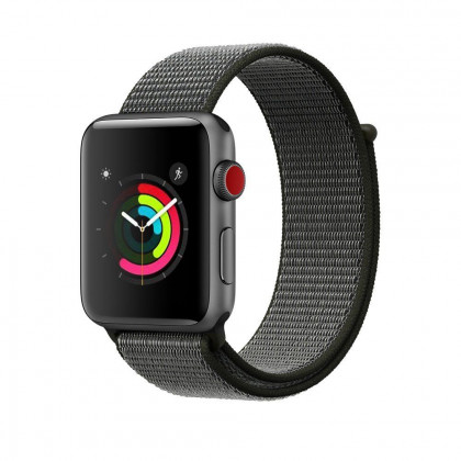 Tech-Protect Nylon Apple Watch 1/2/3 Szíj - 42mm - Olivazöld