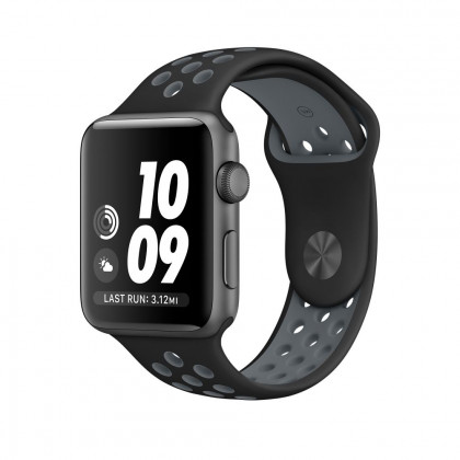 Tech-Protect Softband Apple Watch 1/2/3 Szíj - 42mm - Fekete-Szürke