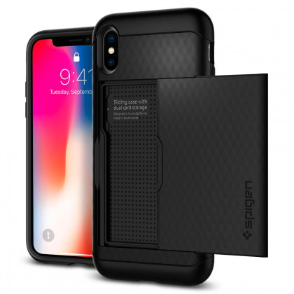 Spigen Crystal Wallet iPhone X tok