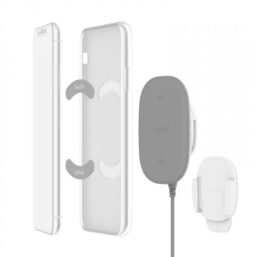 Moshi SnapTo™ Wireless Charger - Gray magnetic wireless charger