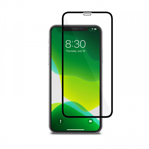 Moshi AirFoil Pro for iPhone 11 Pro - Black (Clear/Glossy) anti-shatter screen protector