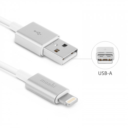 Moshi USB Cable with Lightning™ Connector (1M) - White for iOS devices