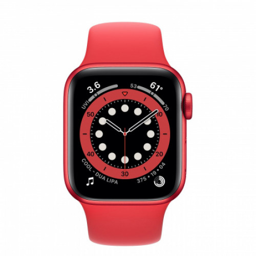 Apple Watch Series 6 GPS+Cellular - PRODUCT(RED) Alumínium Tok, PRODUCT(RED) Sportszíj